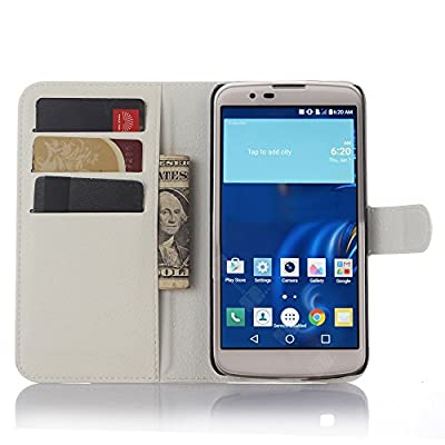LG K10 Case, LG Premier LTE L62VL L61AL Case, Gorgeous Butterfly Bling Crystal White PU Wallet Leather Case For LG K10/LG Premier LTE L62VL L61AL K428 K430 K420 K420N (2016)
