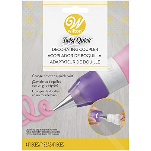 Wilton 411-7367 Decorating Tips, Assorted, White (Coupler Ring)