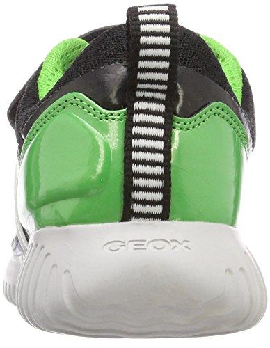 Para C Zapatillas Geox green J Boy Niños Waviness Verde black qwqZHB