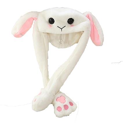 Amazon Com Happy Island Plush Moving Rabbit Ear Hat Dancing Bunny
