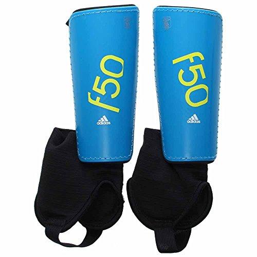 - adidas Performance F50 Youth Shin Guards, Solar Blue/Semi Solar Yellow, Medium