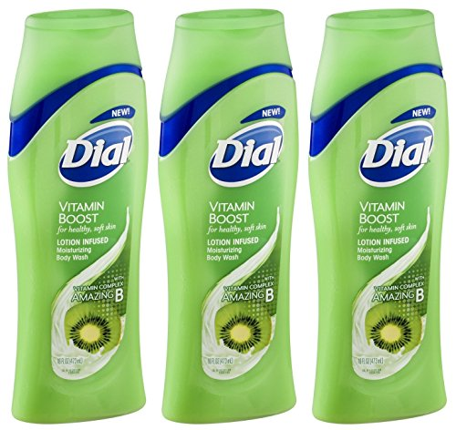 Dial Moisturizing Body Wash - Vitamin Boost - With Vitamin Complex Amazing B - Net Wt. 16 FL OZ (473 mL) Per Bottle - Pack of 3