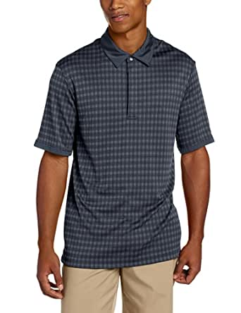 Cutter & Buck Men's CB Drytec Luxe Bryant Polo, Navy Blue, Small