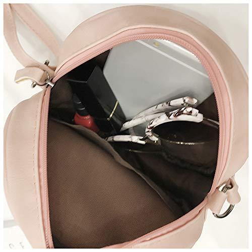Round Handbag Bag Crossbody Shoulder Cute Messenger Robemon Embroidered Women Pink Circular Fashion Satchel Casual w1aREvxqR