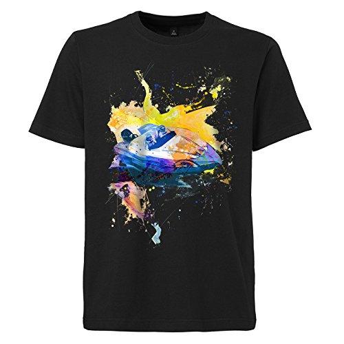 Speedboat_I schwarzes modernes Herren T-Shirt mit stylischen Aufdruck