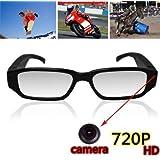 Ugetde 720P HD高画質 メガネ型 デジタルビデオ&カメラ microSD対応 1280×720 眼鏡型隠しカメラ 録画 防犯 証拠撮影 小型カメラ スパイ 防犯 録画