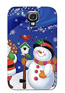 Podiumjiwrp Top Quality Case Cover For Galaxy S4 Case With Nice Santa And Snowman Appearance