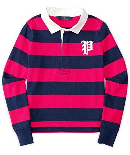 Ralph Lauren Polo Girls Long Sleeve Stripe Rugby Shirt (4 4T)
