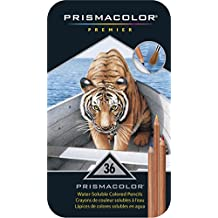 PRISMACOLOR WATERCOLOR Pencil, Colored Pencils, Box of 36, Assorted Colours (4066)