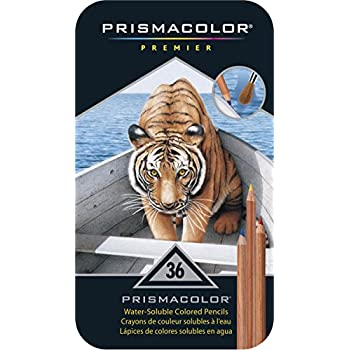 Sanford 4066 Prismacolor Water-Soluble Colored Pencils, 36-Count (Pack of 1)