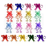 Penta Angel 170Pcs String Pull Bows Ribbon Gift Wrapping Pull Bows Basket Pull Bows for Wedding Christmas Birthday Easter Party Decoration, 17 Colors