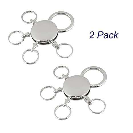 Amazon.com: homejo multi-Ring desmontable Llavero Keychain ...