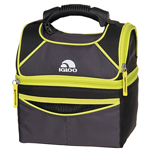 Gripper Cooler (Igloo Playmate Gripper 9 Tech Basic Cooler, Black/Volt Yellow)