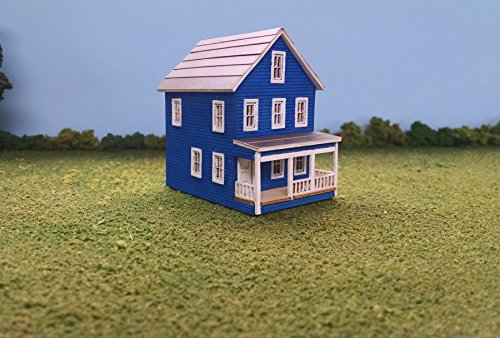 Scale Two Story House - Train Time Laser N Scale 20th Avenue Two Story House Building Kit