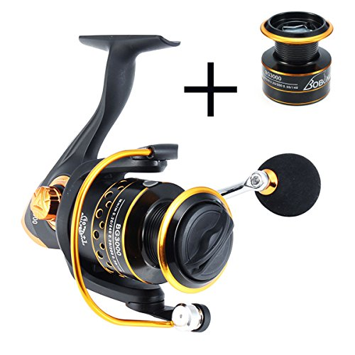 Metal Spinning Wheel - Spinning Fishing Reel, Left/right Interchangeable Collapsible Handle Spinning Reel /Smooth Spinning Reel - Metal Spool Wheel with 5.2:1 Gear Ratio&10+1BB Ball Bearings-for Freshwater Saltwater Fishing