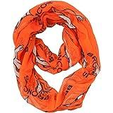 NFL Denver Broncos Sheer Infinity Scarf, One Size, Orange