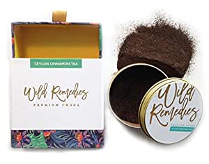 Chaga Tea by Wild Remedies   Organic Chaga Mushroom Powder   Strong Antioxidant   Immune System Booster   Natures Best Kept Superfood Secret (4.8 ounces/30 servings)
