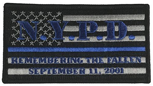 NYPD-REMEMBERING-THE-FALLEN-SEPTEMBER-11-2001-FLAG-BLUE-LINE-POLICE-PATCH-Color-Veteran-Owned-Business