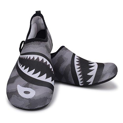 Requin Pieds Schage Chaussures Femmes Nus Joinfree Nautique Chaussettes Gris Bain Plage Aux De Yoga Sport Piscine Pour Rapide Aquatiques 8rqxPT8fw
