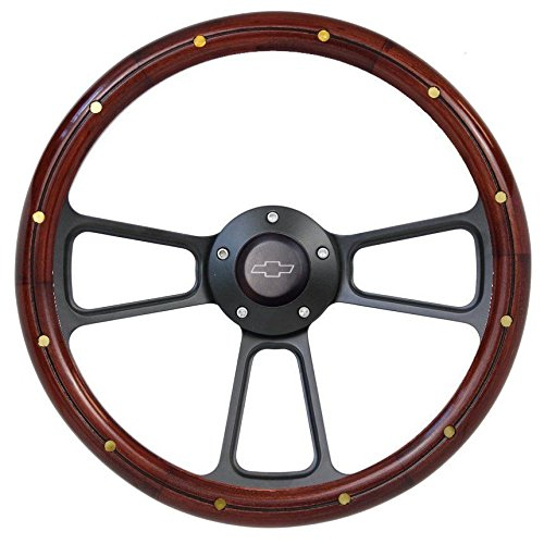 (Chevy Pick-Up Truck 1974 to 1994 Real Wood Steering Wheel Kit Silverado, C10, CK)