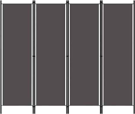 Irfora 3-TLG Raumteiler Trennwand Sichtschutz Gartensichtschutz Dekoration Wei/ß//Anthrazit 150x180 cm