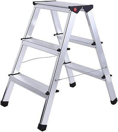 DINJUEN Escalera Plegable de 3 Pasos Escalera de Mano pequeña de Aluminio Escalera de Interior Multifuncional Práctico: Amazon.es: Hogar