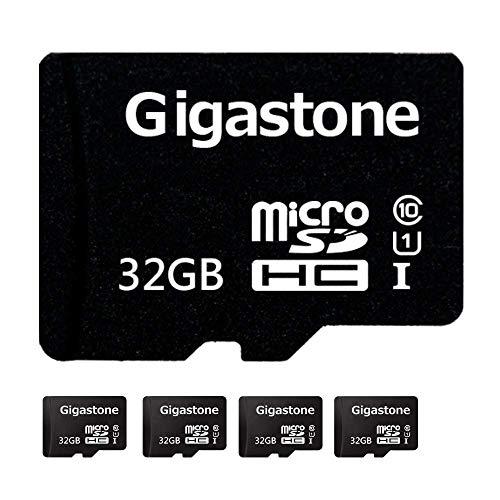 Gigastone Micro SD Card 32GB 5-Pack Micro SDHC U1 C10 High Speed Memory Card Class10 Uhs Full HD Video Nintendo Gopro Camera Samsung Canon Nikon DJI Drone - Black