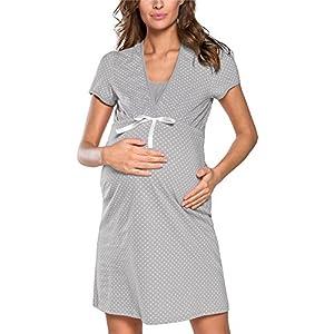 Italian Fashion IF Camicia da Notte Premaman J4J 0114 15