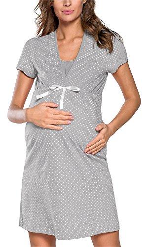 Italian Fashion IF Camicia da Notte Premaman J4J 0114 Premaman