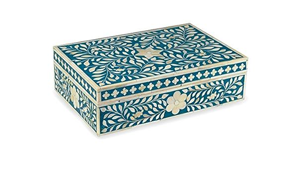 Handmade Bone Inlay Red Floral Box Jewelry Box Storage Box Multipurpose Gift Box