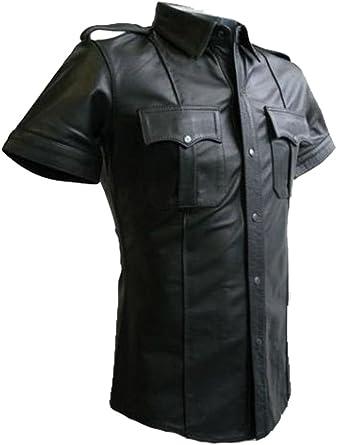 Leather Addicts - Camisa Casual - para Hombre: Amazon.es: Ropa y accesorios