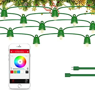 PLAYBULB 16ft/5m Waterproof Smart Led Extension Smart Led String Lights, USB/Battery Powered - for Indoor & Outdoor Use - Perfect for Bedroom Lighting, Wedding Lights, Patio Lights, Dancing Lights