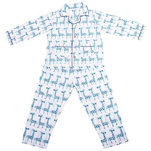 Needybee 100 Organic Cotton Blue Full Sleeves Giraffe Print