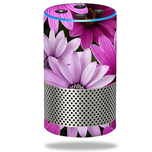 Price comparison product image Skin for Amazon Echo (2nd Generation) - Purple Flowers| MightySkins Protective, Durable, and Unique Vinyl Decal wrap cover | Easy To Apply, Remove, and Change Styles | Made in the USA