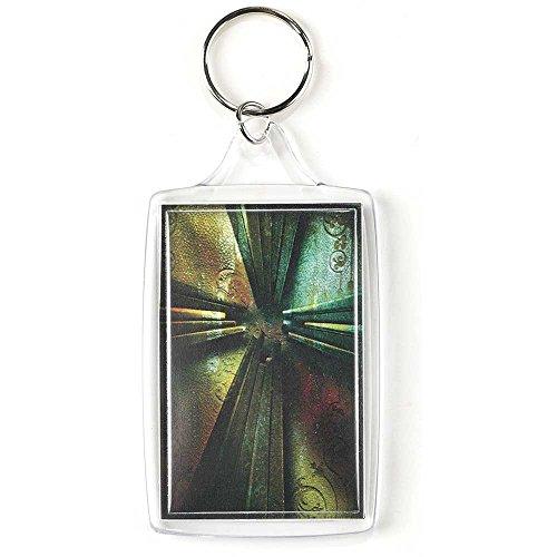 Large Nails Cross Acrylic Christian Key Ring Keychain ()