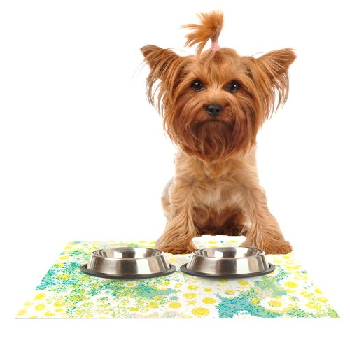 KESS InHouse Kathryn Pledger Myatts Meadow  Feeding Mat for Pet Bowl, 18 by 13-Inch