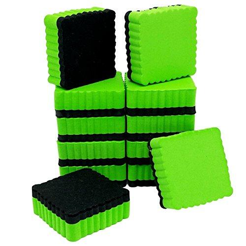 Dry Erase Erasers   Whiteboard Eraser - Magnetic - for Home - Office - School - Classroom - Teacher (12, Green)