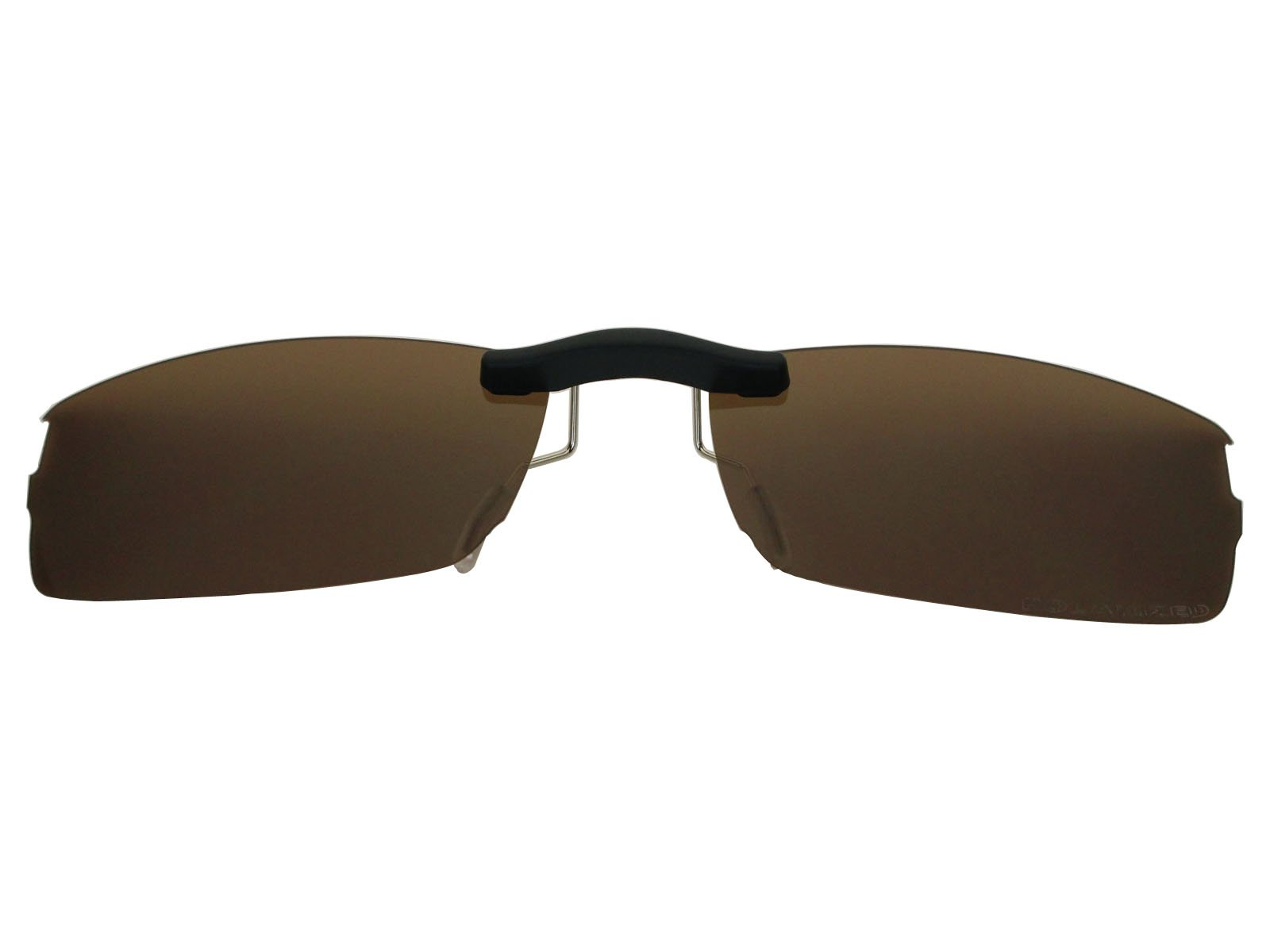 Custom Fit Polarized CLIP-ON Sunglasses For Oakley Halfshock OX3119 55X19 Brown