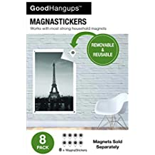 GoodHangups - Replacement MagnaStickers for the Wall - Magnets NOT included (8 pack)