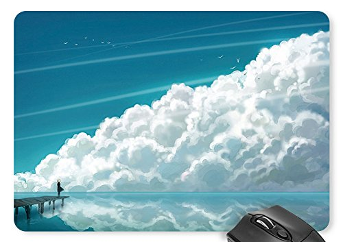Single Villains - Mouse Mat Birds, Clouds, Sea, Villain, Single-Plank Bridge Mouse Pad