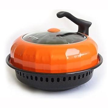 [Kitchen Art] Barbacoa sin humo cocina amplia directa parrilla de fuego horno sartén para gama de gas llama fuego carne pescado pollo Corea horno: ...