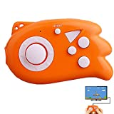 ZHIHSAN Kids Retro Game Console Iconic Mini Joystick Handheld Plug in Play with TV Built in 89 Classic Nostalgic Video Games System (Orange)