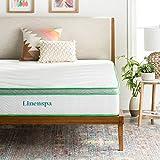LINENSPA 10 Inch Latex Hybrid Mattress - Supportive - Responsive Feel - Medium Firm - Temperature Neutral - Full