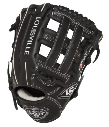 Louisville Slugger 11.75-Inch FG Pro Flare Baseball Infielders Gloves, Black, Right Hand Throw