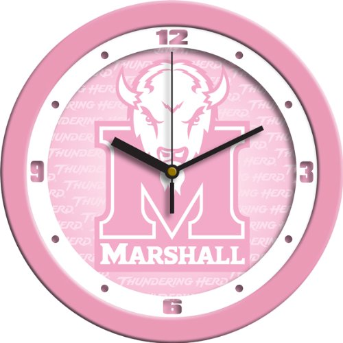 - SunTime NCAA Marshall University Thundering Herd Wall Clock - Pink
