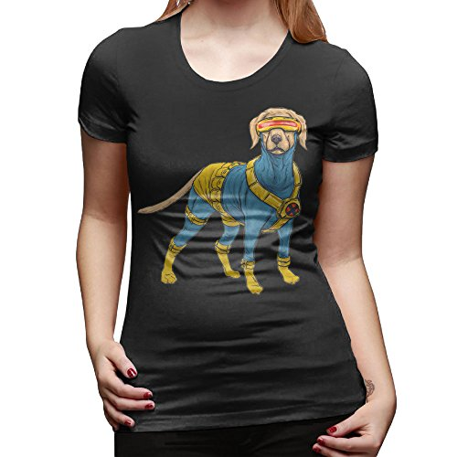 [Texhood Women?€?s X Dog Black T-shirt SizeXLO-Neck] (Assassins Creed Unity Costume Customization)