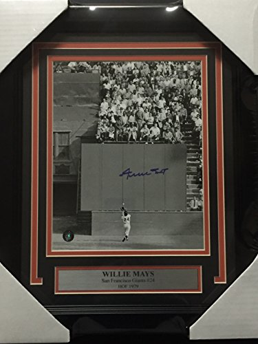 Framed Autographed/Signed Willie Mays San Francisco Giants Vertical 8x10 Baseball Photo Say Hey COA - Willie Mays Autographed Photo