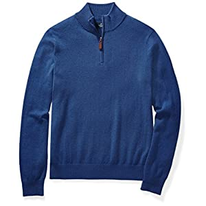 Buttoned Down Men's Cashmere Quarter-Zip Sweater