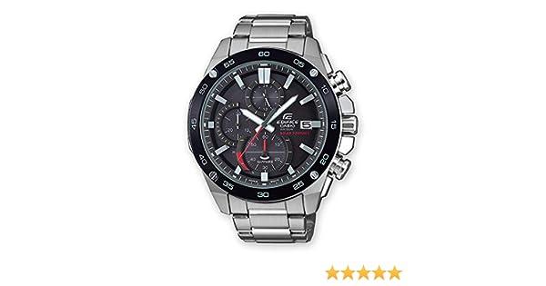 Casio Reloj Cronógrafo para Hombre de Energía Solar con Correa en Acero Inoxidable EFS S500DB 1AVUEF