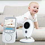 """Discoball Video Baby Monitor with Camera 2.4"""" Color LCD Display VOX Mode 2.4 GHz For Signal Transmission / Two-way Talk / Night Vision / 8 Lullabies / Temperature Monitoring for Baby/Old/Pet"""
